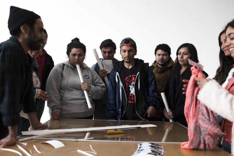 Visitas guiadas por Exposiciones FIFV en PCdV. Fotos de Javier Álvarez.