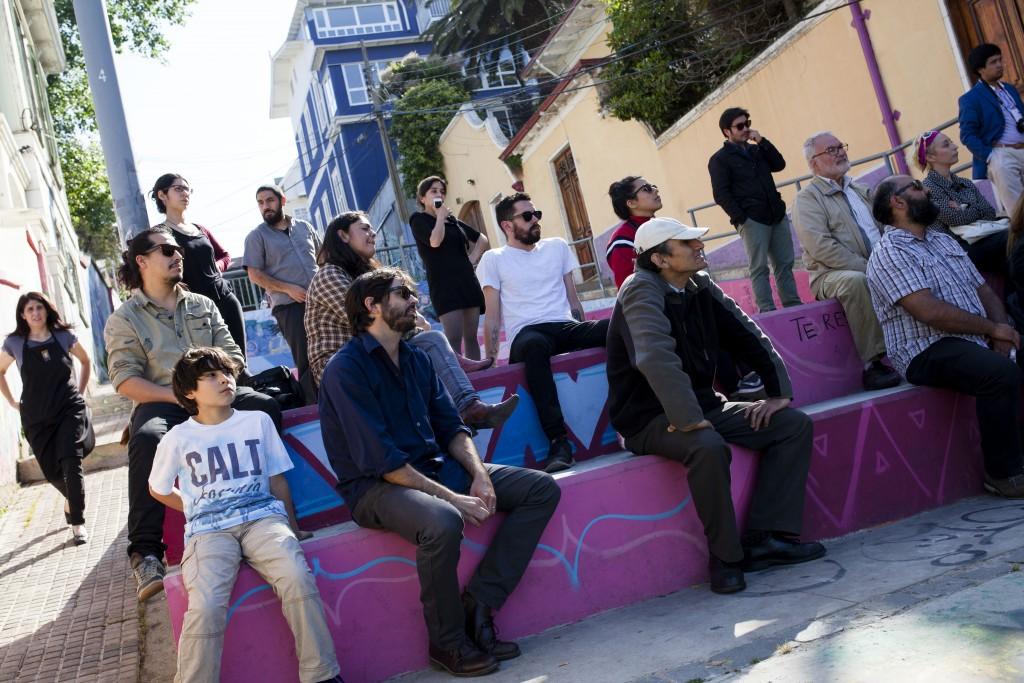 Inauguración de la Exposición del taller dirigido por Verónica Soto (Chile) con profesores y niños de Educación Básica.